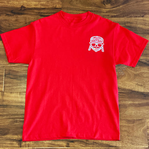 Red Raka mola Pocket merch shirt