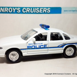 1/43rd scale Bentonville, Arkansas Police older Ford Crown Victoria LOOSE