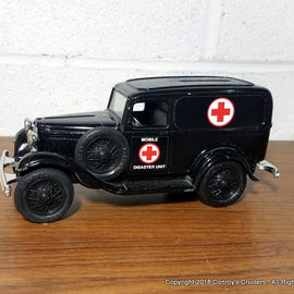 1/24th scale 1932 Ford Delivery Van Mobile Disaster Unit (LOOSE - out of package)