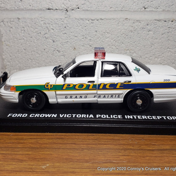 Custom 1/43rd scale Grand Prairie, Texas Police Ford Crown Victoria Police Interceptor model