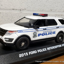Custom 1/43rd scale Dayton, Ohio Police Ford Police Interceptor Utility model