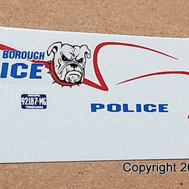 1/43rd scale West York Borough, Pennsylvania Police Decals