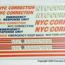 1/24th scale N-Y-C Correction Decals