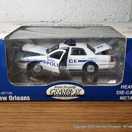 #27105 - 1/43rd scale New Orleans, Louisiana Police Ford Crown Victoria Serial #0001