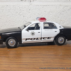Custom 1/43rd scale Las Vegas, Nevada Metro Police Ford Crown Victoria LOOSE (Gearbox car)