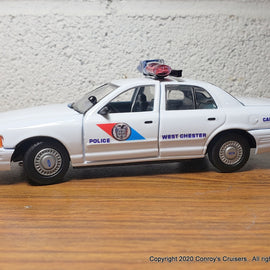 Custom 1/43rd scale West Chester, Ohio Police Ford Crown Victoria (Gearbox car)