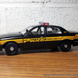 Custom 1/43rd scale Washingtonville, Ohio Police Ford Crown Victoria (Gearbox car)