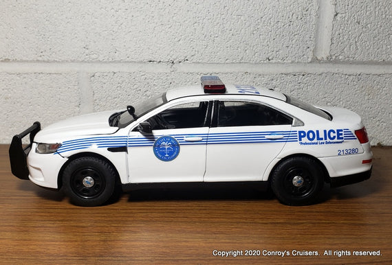 Custom 1/24th scale Miami, Florida Police Ford Police Interceptor Sedan diecast car