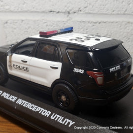 Custom 1/43rd scale Austin, Texas Police Ford Police Interceptor Utility model