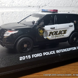 Custom 1/43rd scale Hollywood Park, Texas Police Ford Police Interceptor Utility diecast car
