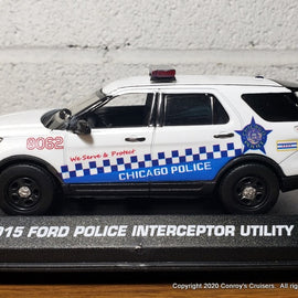 Custom 1/43rd scale Chicago, Illinois Police Ford Police Interceptor Utility diecast car