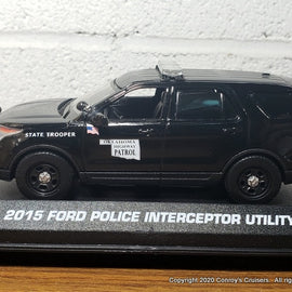 Custom 1/43rd scale Oklahoma Highway Patrol Ford Police Interceptor Utility diecast car