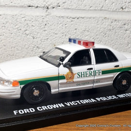 ***NEW*** Custom 1/43rd scale Galveston County, Texas Sheriff Ford Crown Victoria Police Interceptor diecast car