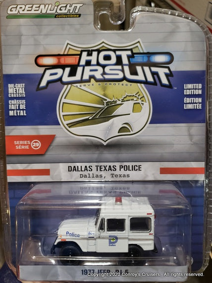 #42860-B 1/64th scale Dallas, Texas Police 1977 Jeep DJ-5