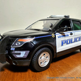 ***NEW*** Custom 1/24th scale Leawood, Kansas Police Ford Police Interceptor Utility diecast car (pre-2020 graphics)