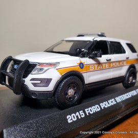 ***NEW*** Custom 1/43rd scale Illinois State Police Ford Police Interceptor Utility diecast model