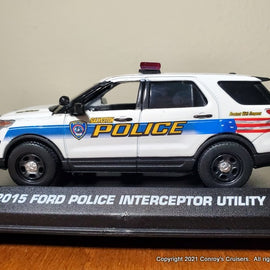 ***NEW*** Custom 1/43rd scale Galveston, Texas Police Ford Police Interceptor Utility diecast model