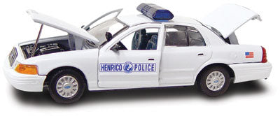 #27232 - 1/43rd scale Henrico County, Virginia Police Ford Crown Victoria