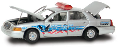 #27267 - 1/43rd scale Mount Morris, New Jersey Police Ford Crown Victoria