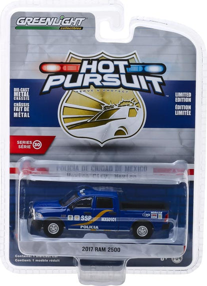 #42870-F 1/64th scale Mexico City, Mexico Policia 2017 Ram 2500 Pickup Truck