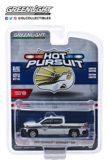 #42890-F 1/64th scale General Motors Police Fleet 2019 Chevrolet Silverado SSV Demo Pickup Truck