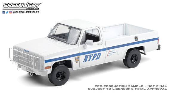 #13561 1/18th scale NYPD 1984 Chevrolet CUCV M1008  ***Due in December 2020***