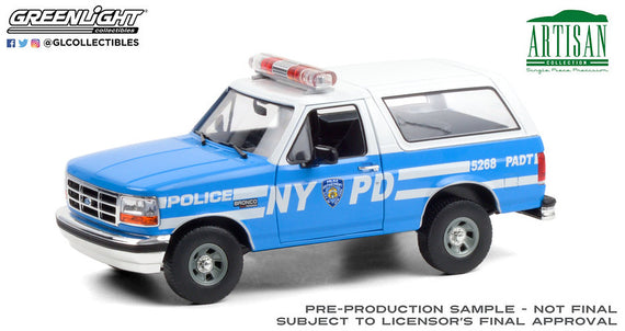 #19087 1/18th scale NYPD 1992 Ford Bronco  ***Due in January 2021***