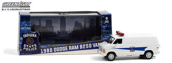 #86599 1/43rd scale Indiana State Police 1980 Dodge Ram B250 Van