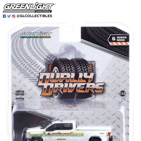 #46060-C - 1/64th scale Broward County, Florida Sheriff Marine Unit 2018 Ford F-350 Dually  ***Due in January 2021***