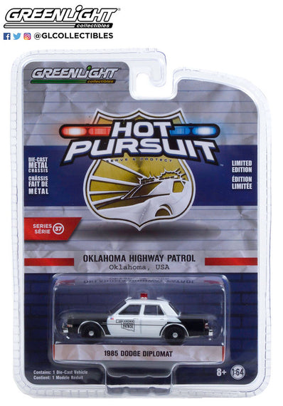 #42950-C 1/64th scale Oklahoma Highway Patrol 1985 Dodge Diplomat  ***Due in late January 2021***