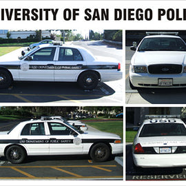 University of San Diego Department of Public Safety Decals