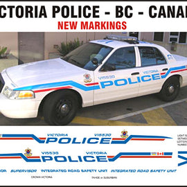 Victoria, British Columbia, Canada Police Decals