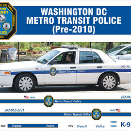 Washington, DC Metro Transit Police Decals