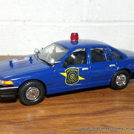 1/24th scale Michigan State Police 1996 Ford Crown Victoria model (LOOSE - no packaging)