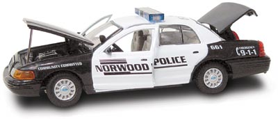 #27246 - 1/43rd scale Norwood, Massachusetts Police Ford Crown Victoria