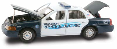 #27292 - 1/43rd scale Wellesley, Massachusetts Police Ford Crown Victoria (3rd issue)