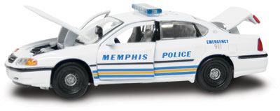 #27315 - 1/43rd scale Memphis, Tennessee Police Chevrolet Impala
