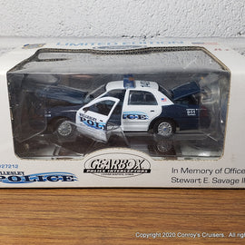 #27212 - 1/43rd scale Wellesley, Massachusetts Police Ford Crown Victoria UNSTAMPED BOX