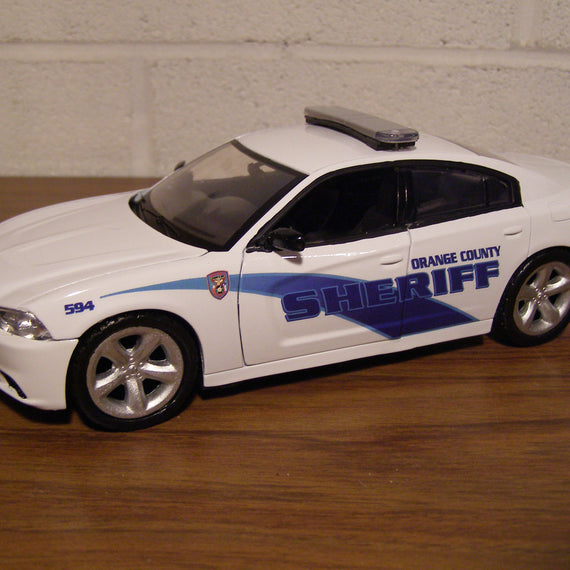 Custom 1/24th scale Orange County, Texas Sheriff Dodge Charger model