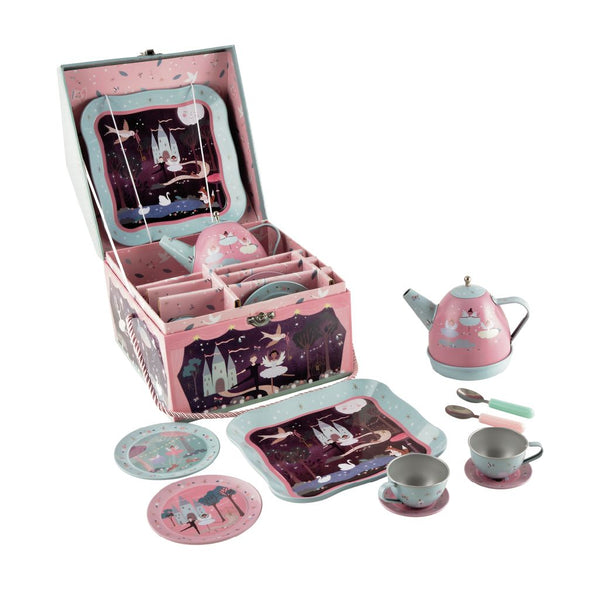 Enchanted Musical Tin Tea Set - 11 Piece - Mucky Knees Gift Boutique