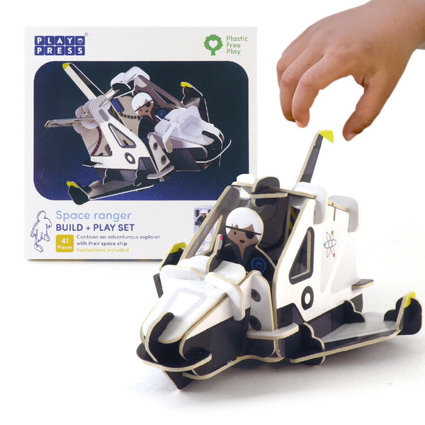 Spaceship and Space Ranger Eco Friendly Play Set - Mucky Knees Gift Boutique