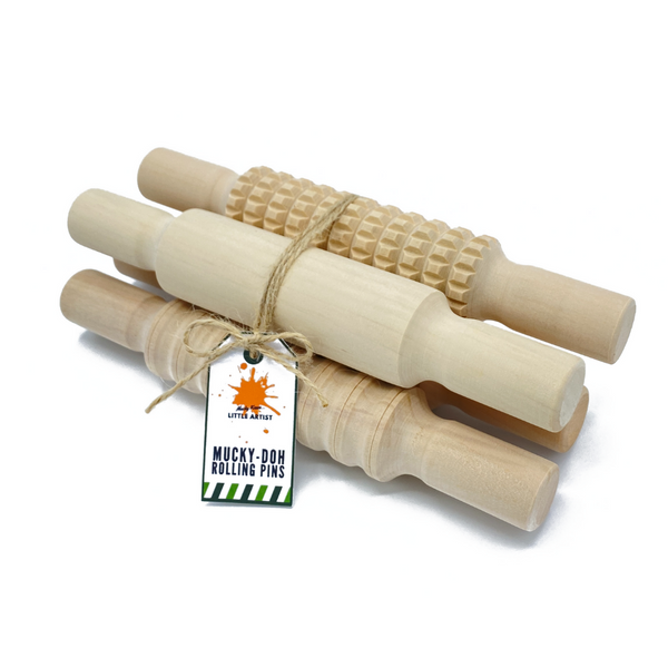 Mucky-Doh Rolling Pins: Pack of 4