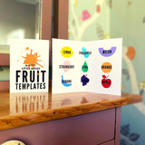 Wooden Fruit Craft Templates: Pack of 9 - Mucky Knees Gift Boutique