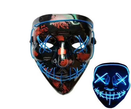LED Purge and Skull Halloween Mask
