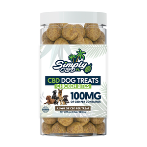Simply CBD FL 100 MG CBD Chicken Bite Dog Treats
