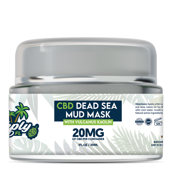 Simply CBD FL 20 MG CBD Dead Sea Mud Mask With Vulcanus Kaolin