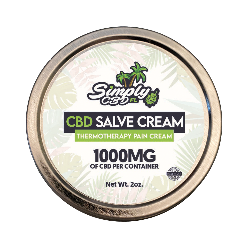 Simply CBD FL 1000 MG CBD Salve Cream Thermotherapy Pain Cream