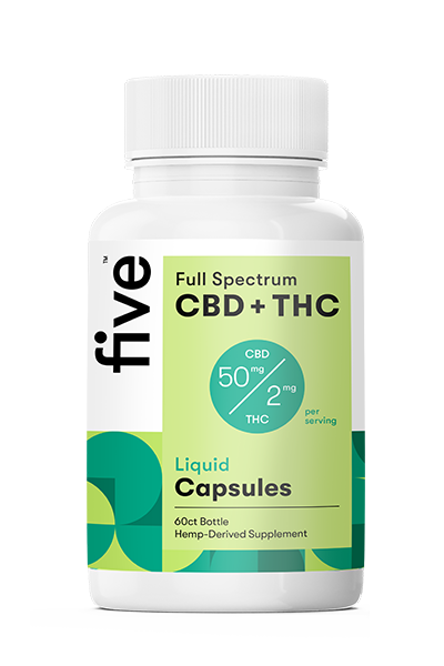 Full Spectrum CBD+THC Liquid Capsules