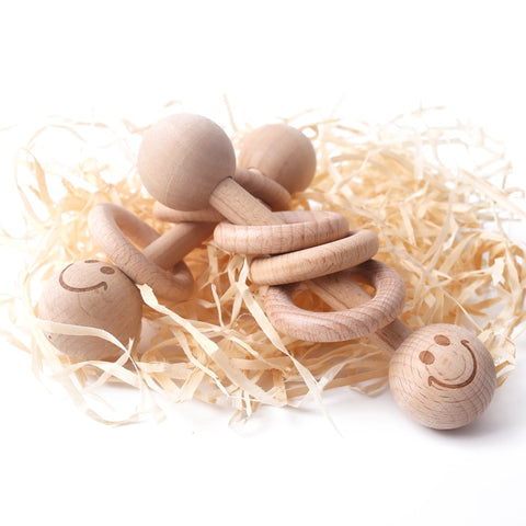 Eva Teething Wooden Rattles