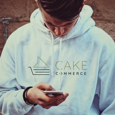 Cake Commerce White Hoodie Sweatshirt - Ecommerce Marketing Agency